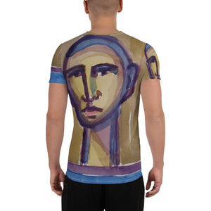 william deraymond #art detail of a #watercolor #painting #print on a All-Over Print Men's Athletic T-shirt