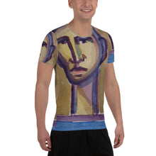 Load image into Gallery viewer, william deraymond #art detail of a #watercolor #painting #print on a All-Over Print Men's Athletic T-shirt
