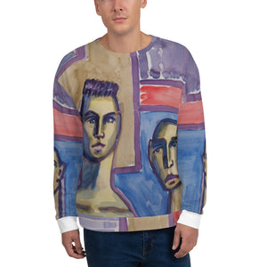 william deraymond #fineart #watercolor #painting detail #print #design o a Unisex Sweatshirt
