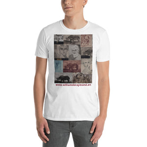 william deraymond #art with #printmaking #collage #print on a Short-Sleeve Unisex T-Shirt