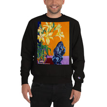 Load image into Gallery viewer, william deraymond #fineart detail of a  #stilllife with #gorilla #painting #print on a Champion Sweatshirt