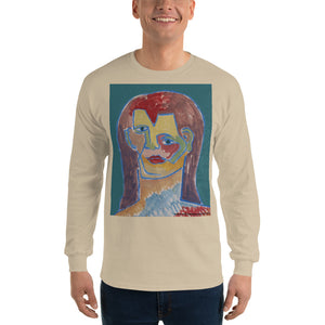 william deraymond #art imaginary #portrait #painting detail of a composition #print on a Men's Long Sleeve Shirt