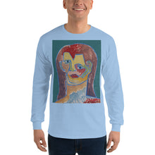 Load image into Gallery viewer, william deraymond #art imaginary #portrait #painting detail of a composition #print on a Men's Long Sleeve Shirt