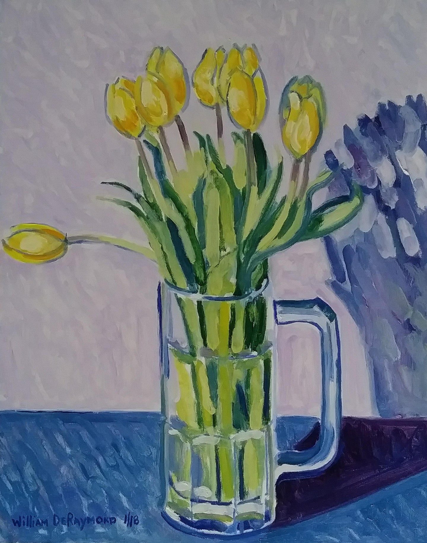 #fineart #painting #art composition with yellow tulips, 16