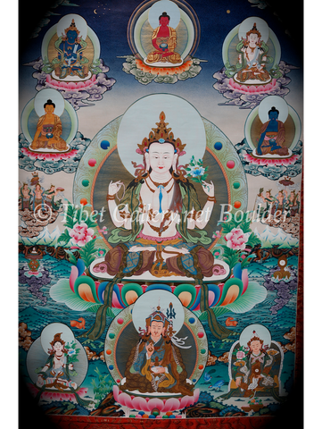 4 Armed Chenrezig (Avalokitesvara) Thangka (AT 1)