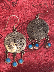 OM Turquoise Silver Earrings(TGSE 87)