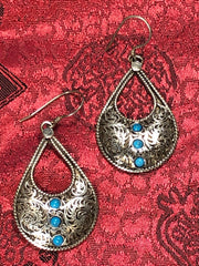Silver Turquoise Earrings(TGSE 56)