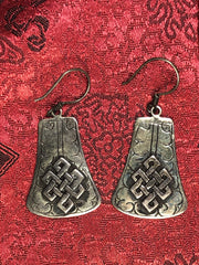 Tibetan Knott Silver Earrings(TGSE 27)