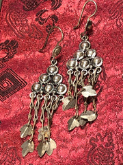Silver Long Earrings(TGSE 58)
