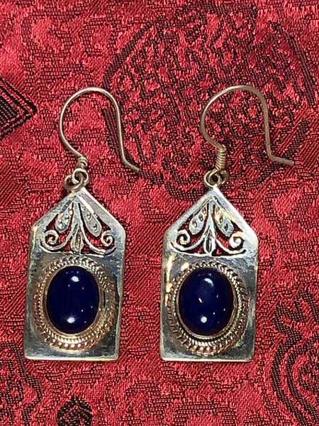 Silver Lapis Earrings(TGSE 49)