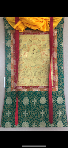 Green Tara with Twenty-One Taras Thangka (TGTH 129)