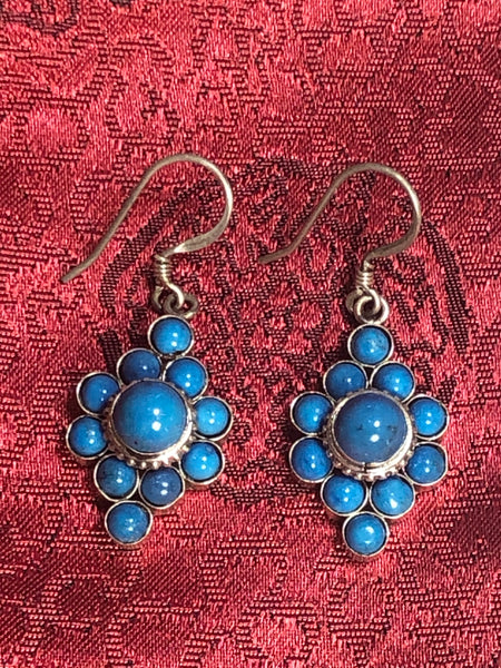 Turquoise Silver Earrings(TGSE 90)