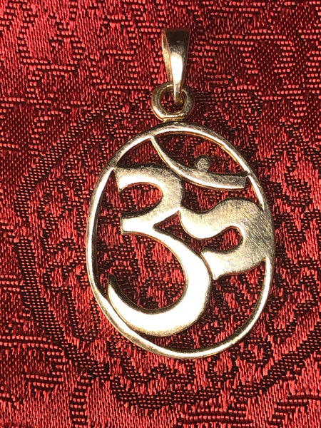 Silver Om Pendant(TGSP 19)