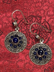 Silver Lapis Earrings(TGSE 48)