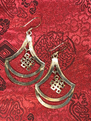 Tibetan Knott Silver Earrings(TGSE 67)