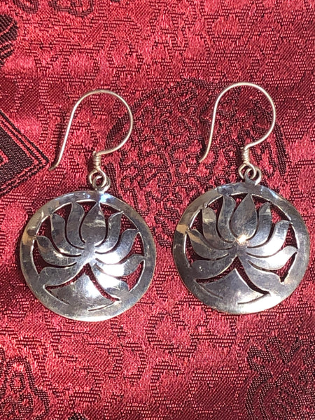 Lotus Silver Earrings(TGSE 89)