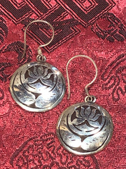 Lotus Silver Earrings(TGSE 97)