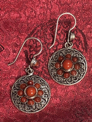 Coral Silver Earrings(TGSE 82)