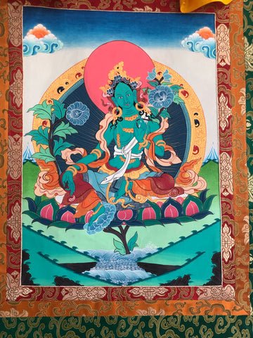 Green Tara Thangka (TGTH 74)