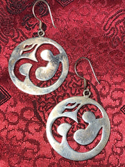 Silver Om Earrings(TGSE 14)