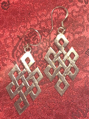 Silver Endless Knott Earrings(TGSE 28)