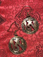 Om Tibetan Silver Earrings(TGSE 72)