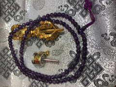 Amethyst Mala / Prayer Beads ( TGMA 11 )