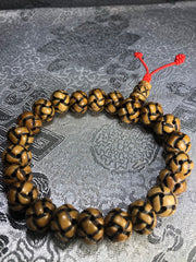 Endless Knott Bone Carved Wrist Mala(TGWM 35)