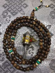 Palm Wood Vintage Mala/Prayer Beads(TGMA 53)