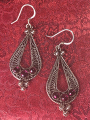 Amethyst Siver Earrings(TGSE 30)