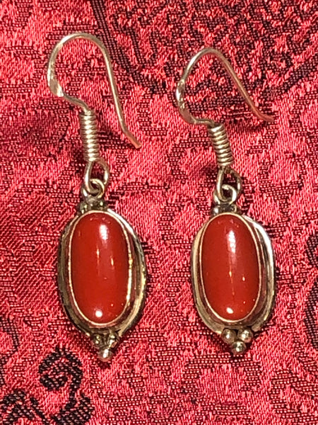 Silver Coral Earrings(TGSE 54)
