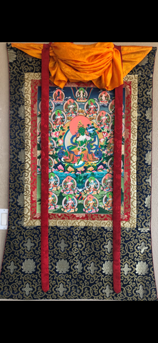 Green Tara with Twenty-One Taras Thangka (TGTH 90)