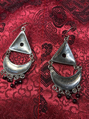 Silver Garnet Earrings(TGSE 16)