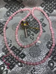 Rose Quartz Mala / Prayer Beads ( TGMA 7 )