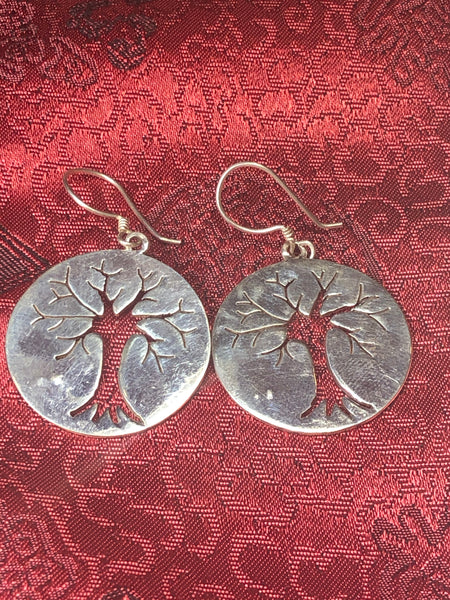 Tree of Life Silver Earrings(TGSE 38)