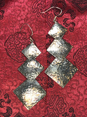 Silver Square Earrings(TGSE 26)