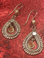 Silver Coral Earrings(TGSE 43)
