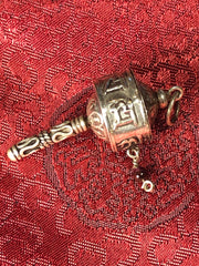 Prayer Wheel Silver Pendant(TGSP 66)
