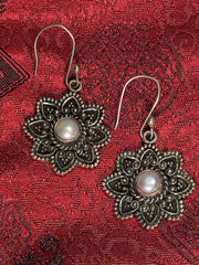 Pearl Silver Earrings(TGSE 78)