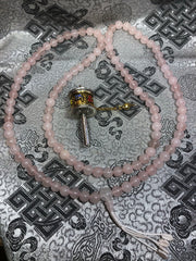 Rose Quartz Mala / Prayer Beads ( TGMA 8 )