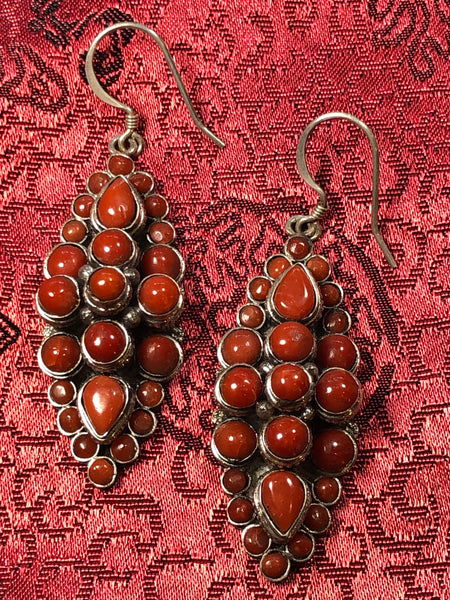 Silver Coral Earrings(TGSE 3)