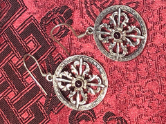 Double Vajra/Dorje Silver Earrings(TGSE 103)