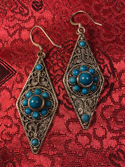 Silver Turquoise Earrings(TGSE 9)