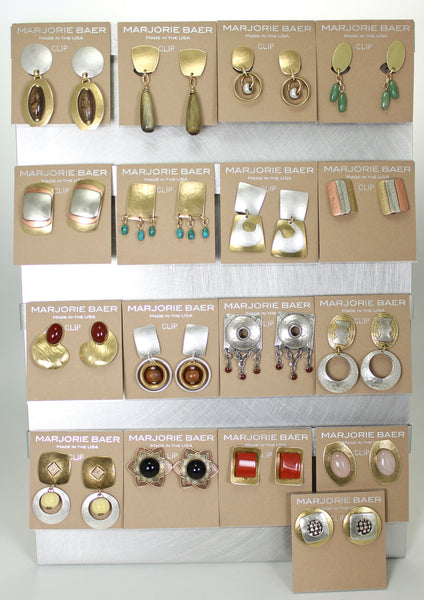 Earrings after cleaning