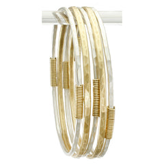 Brass and Silver Bangle Set
