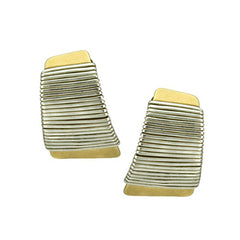 E4265D mixed metal earrings clip post