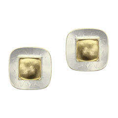 E7060RD mixed metal earrings post clip