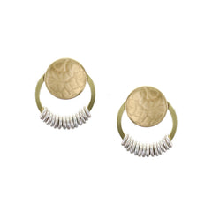 E8229RD mixed metal earrings