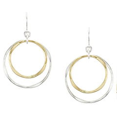 Mixed metal brass silver hoop earring wire