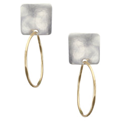 Clip on hoop earrings mixed metal